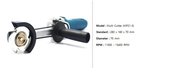 MP21-3-M Manpa Multi Cutter MASTER KIT [Includes Extension and additional blade]