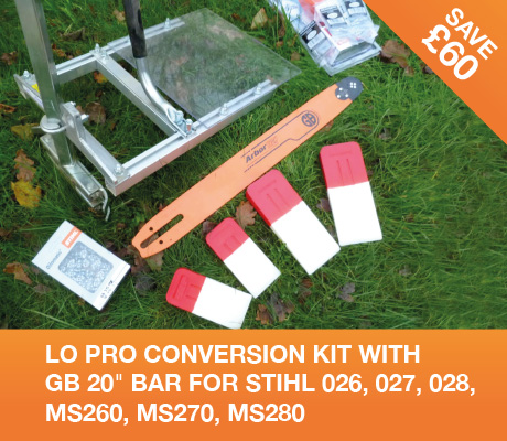 lo pro conversion kit with gb 20 bar for stihl 026, 027, 028, ms260, ms270, ms280