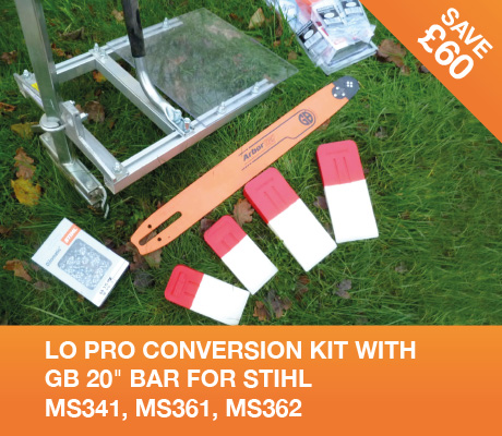 lo pro conversion kit with gb 20 bar for stihl MS341, MS361, MS362