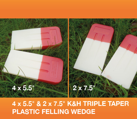 4 x 5.5 2 x 7.5 k&h triple taper plastic felling wedge