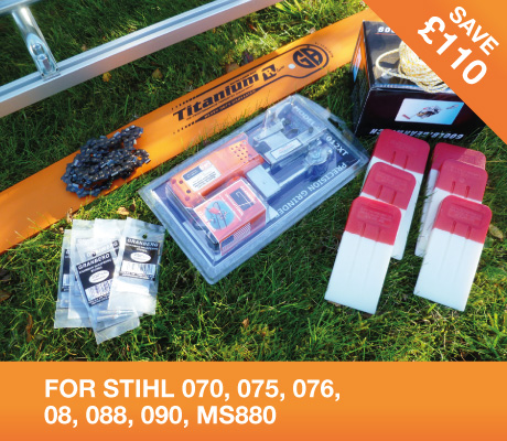 "72"" MILLING KIT with 74"" GB Pro bar – STIHL 070, 075, 076, 08, 088, 090, MS880"