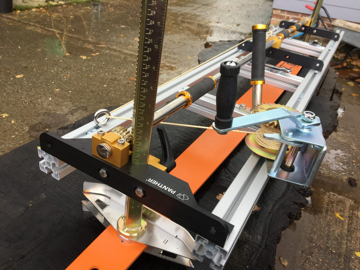 """PM-60-GB64-27RA100R New Panther Horizon Heavy Chainsaw Mill 60""""[155cm] with GB 64""""[163cm] Milling Bar .404 .063 180 drive links"""