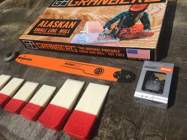 """HU-SL-SNHL20-50WR Small Log Mill Lo Pro Conversion Kit 20""""(50cm) GB Lo Pro Bar Husqvarna 550XP, 555, 560XP"""