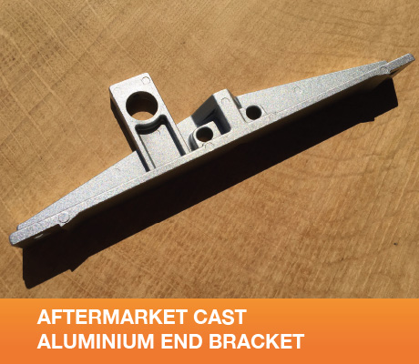 2xSMCB 2x Spare Cast Aluminium End Brackets
