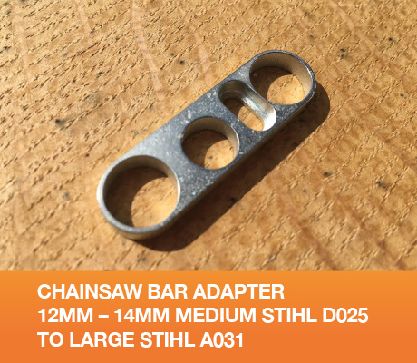CHAINSAW BAR ADAPTER 12MM – 14MM MEDIUM STIHL D025 TO LARGE STIHL A031