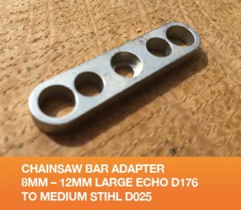 GB0812 Chainsaw Bar Adapter 8mm 12mm Large Echo D176 to Medium Stihl D025
