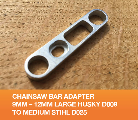 GB0912 Chainsaw Bar Adapter 9mm 12mm Large Husky D009 to Medium Stihl D025