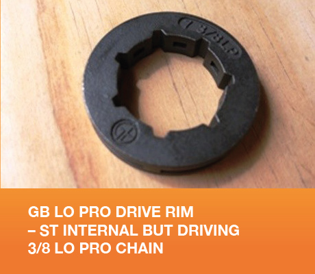GB LO PRO DRIVE RIM – ST INTERNAL BUT DRIVING 3/8 LO PRO CHAIN