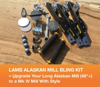 "LAMB Alaskan Mill Bling Kit - Upgrade Your Long Alaskan Mill (48""+) to a Mk IV Mill With Style"