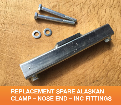 REPLACEMENT SPARE ALASKAN CLAMP – NOSE END – INC FITTINGS