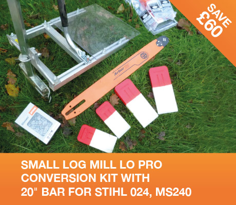 "SMALL LOG MILL LO PRO CONVERSION KIT 20"" BAR – STIHL 024, MS240"
