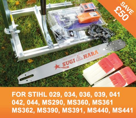 "ST-SL-Sugihara20-3/8-D025 Small Log Mill Kit 20"" Bar Stihl 029, 034, 036, 039, 041, 042, 044, MS290, MS360, MS361, MS362, MS390, MS391, MS440, MS441"