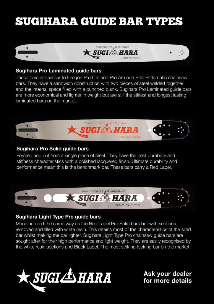 "VT2T-3Q91-A 36"" Sugihara Pro Solid Solid Bar for Husqvarna 181, 185, 281, 285, 288, 372XP, 575XP, 576XP, 390XP, 394XP, 395XP 3/8 .058 115 drive links"