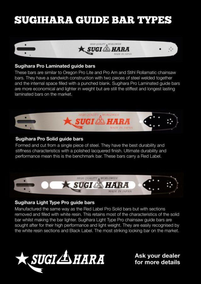"""SL2A-4P30-A Sugihara Tough Carver R7 Tip 12""""[30cm] Stihl MSA161 C-B 1/4 .043 65 drive links"""