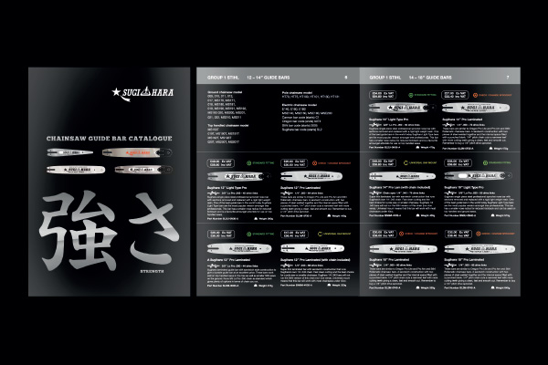 Sugihara bars catalogue
