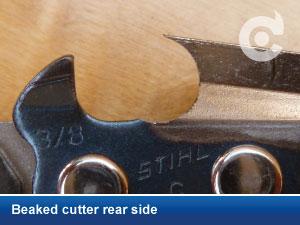 beaked cutter rear side