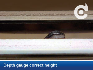 Depth gauge correct height