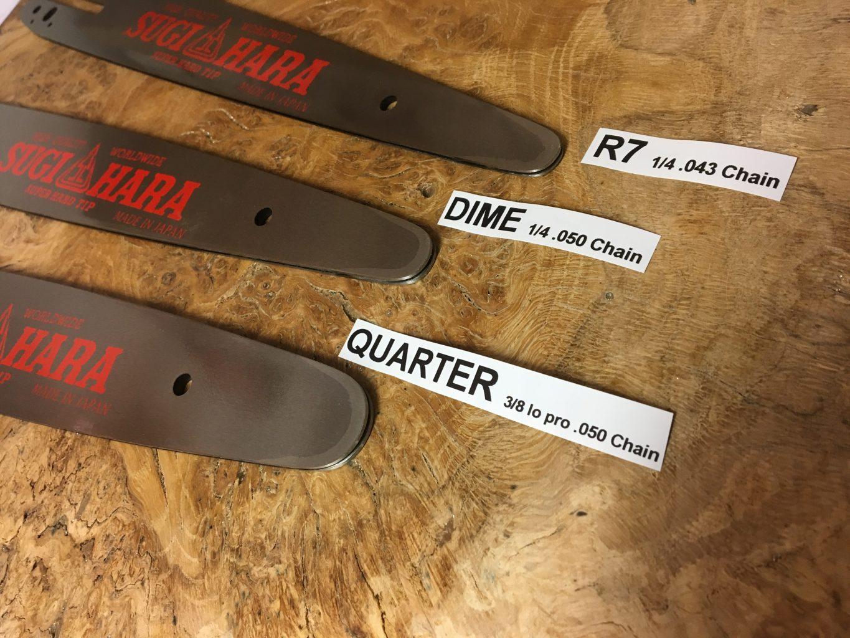 """SL2A-4P25-A Sugihara Tough Carver R7 Tip 10""""[25cm] Stihl MSA161 C-B 1/4 .043 57 drive links"""