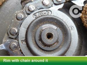 rim with chain around