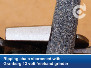 ripping chain granberg 12 volt freehand grinder
