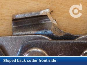 sloped back cutter front side