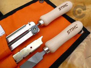 "Stihl filing pouch with 3.2mm file for 1/4"" chain"