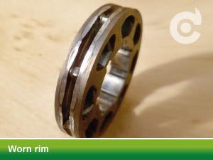 worn rim green