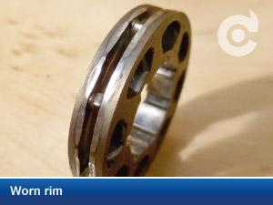 worn rim